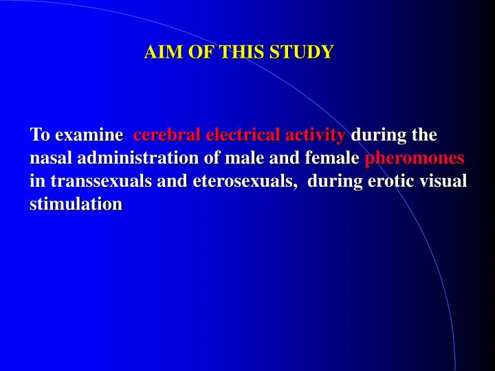 AIM OF THIS STUDY