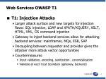web services owasp t1