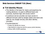 web services owasp t10 new