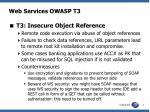 web services owasp t3