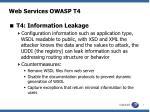 web services owasp t4