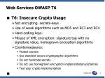 web services owasp t6