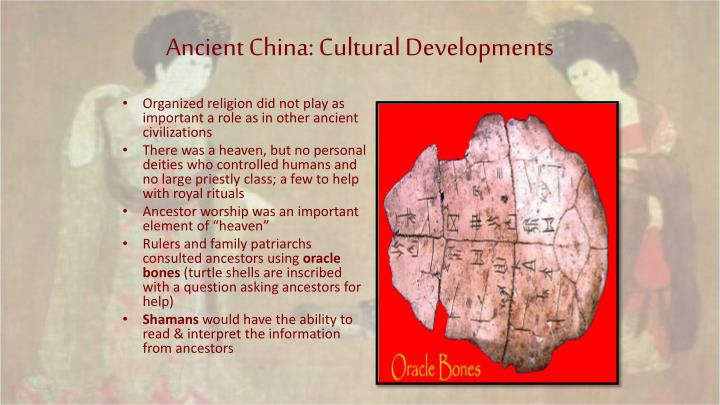 Ancient China: Cultural Developments