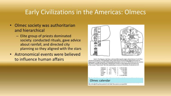 Early Civilizations in the Americas: Olmecs