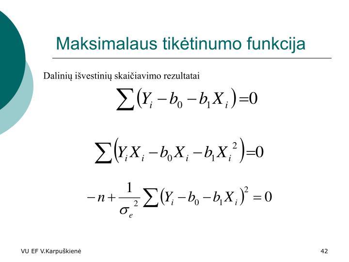 Maksimalaus tikėtinumo funkcija