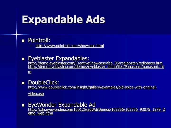 Expandable Ads
