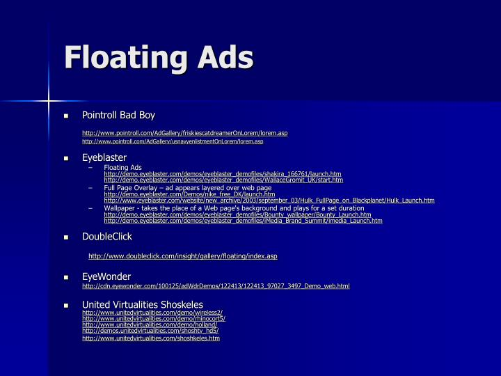 Floating Ads