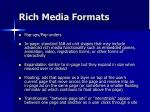 rich media formats