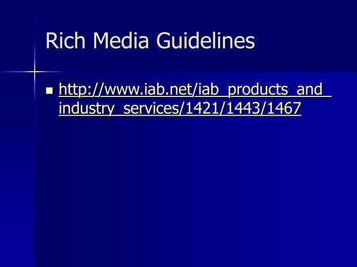 Rich Media Guidelines
