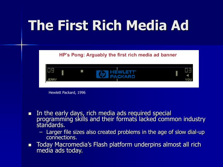 The First Rich Media Ad