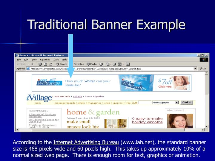 Traditional Banner Example