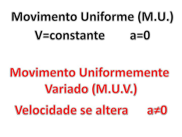 Movimento Uniforme (