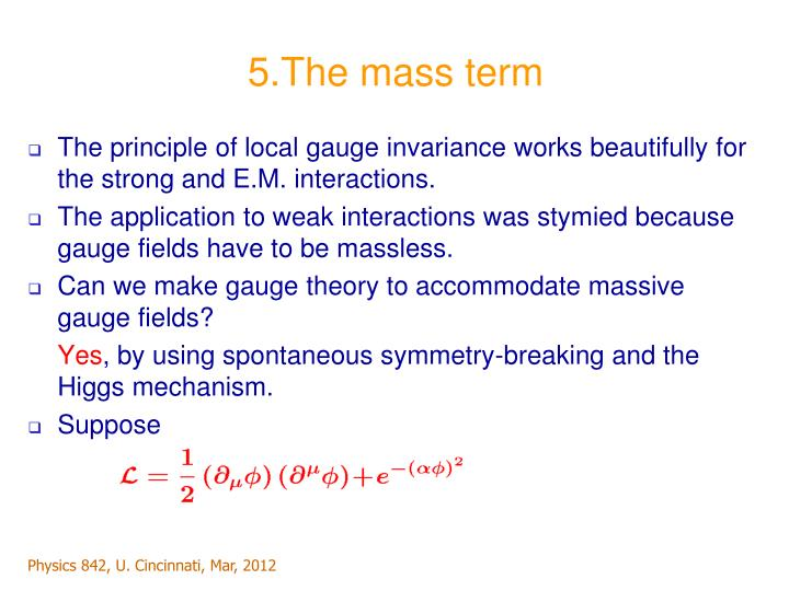 5.The mass term