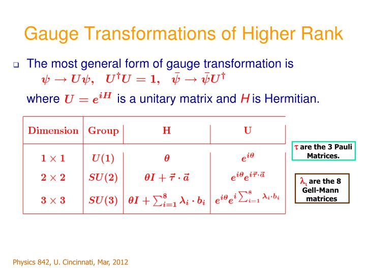 Gauge Transformations of Higher Rank