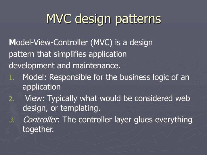 MVC design patterns