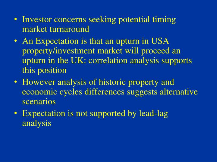 Investor concerns seeking potential timing market turnaround