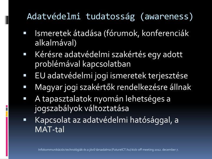 Adatvédelmi tudatosság (