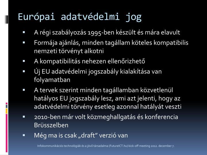 Európai adatvédelmi jog
