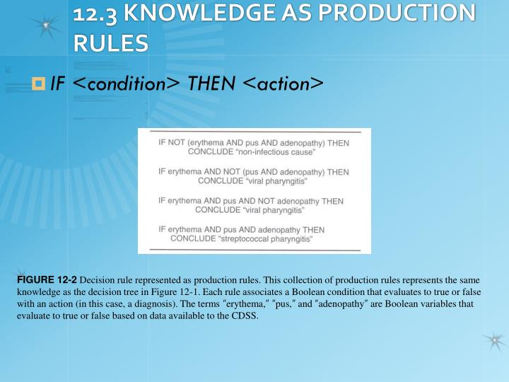 12.3 KNOWLEDGE AS PRODUCTION RULES