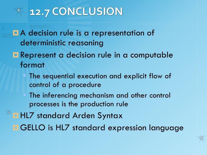 12.7 CONCLUSION