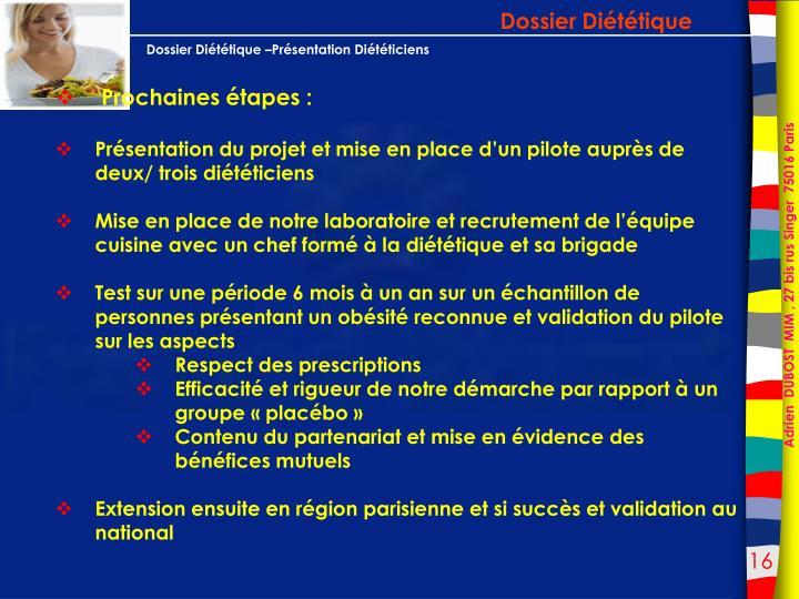 Dossier Diététique