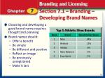 section 7 1 branding developing brand names