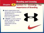 section 7 1 branding the importance of branding