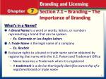 section 7 1 branding the importance of branding1