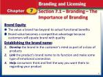 section 7 1 branding the importance of branding4