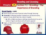 section 7 1 branding the importance of branding5