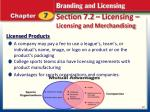 section 7 2 licensing licensing and merchandising1