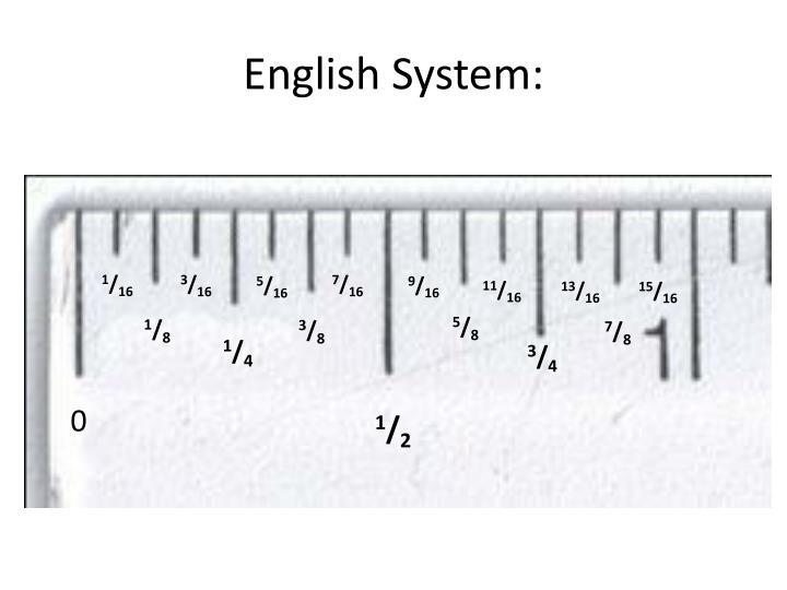English System: