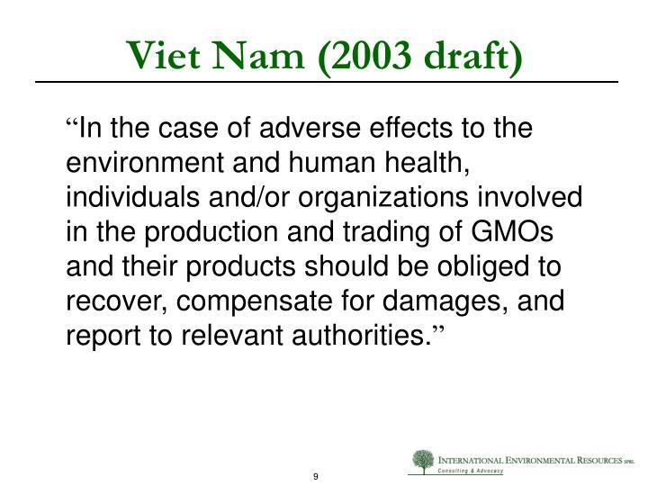 Viet Nam (2003 draft)