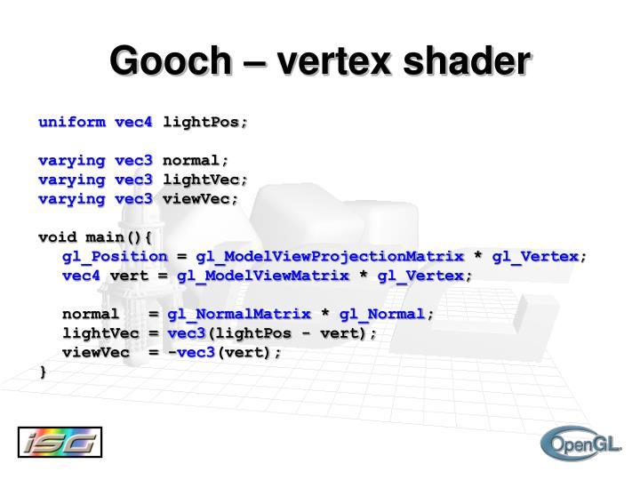 Gooch – vertex shader