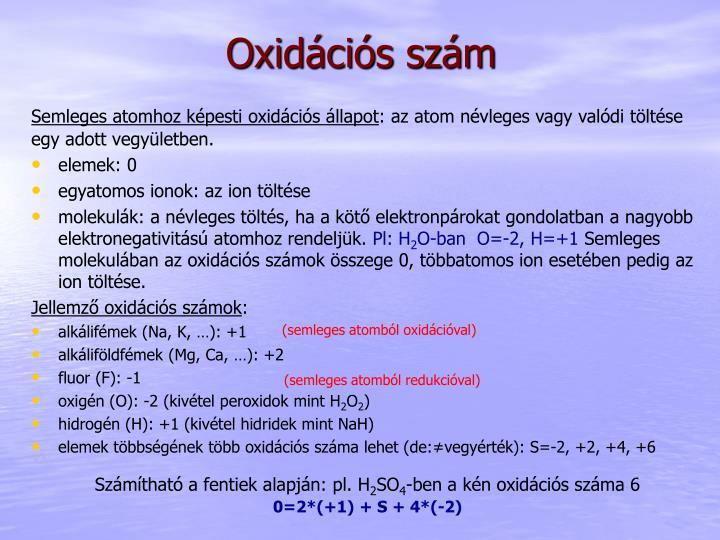 Oxidációs szám