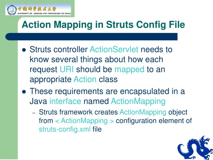 Action Mapping in Struts Config File