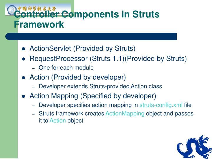 Controller Components in Struts Framework