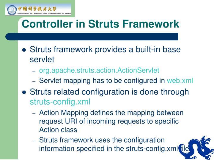 Controller in Struts Framework