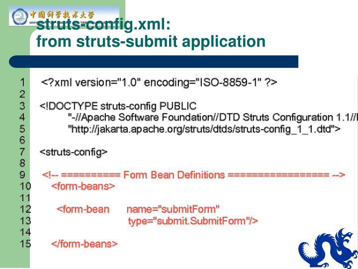 struts-config.xml:
