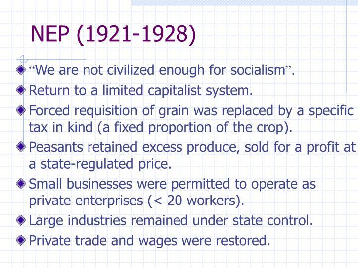 NEP (1921-1928)