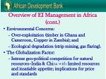 overview of ei management in africa cont