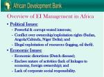 overview of ei management in africa