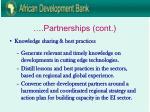 partnerships cont