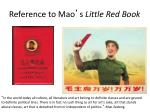 reference to mao s little red book
