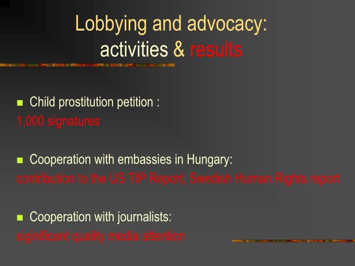 Lobbying and
