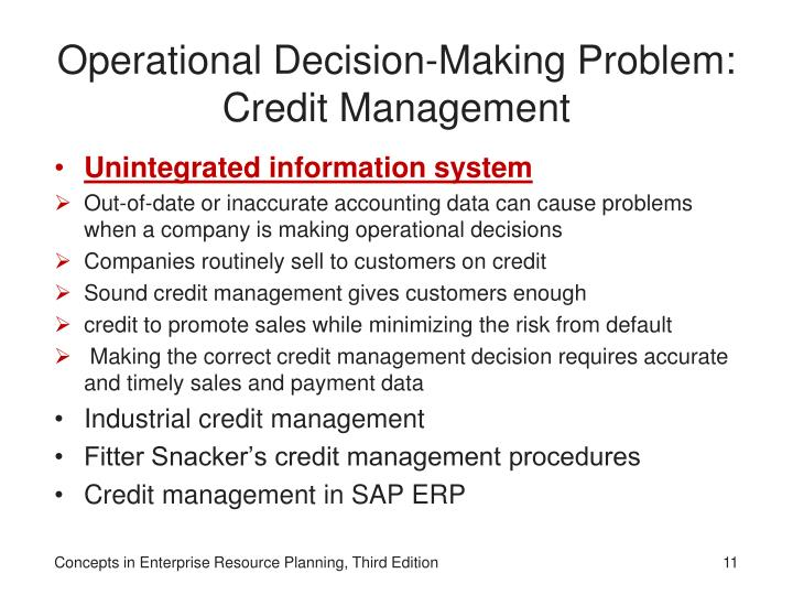 Operational Decision-Making Problem: Credit Management