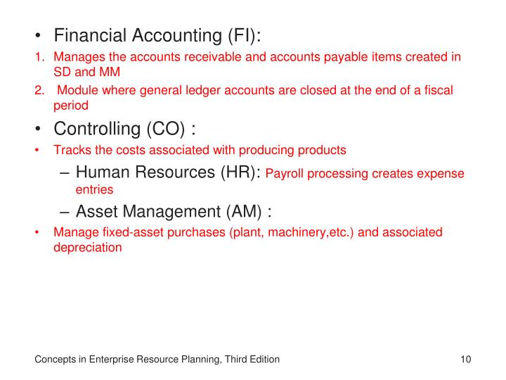 Financial Accounting (FI):
