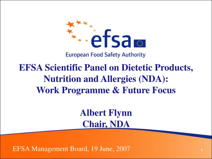EFSA Scientific Panel on Dietetic Products, Nutrition and Allergies (NDA):