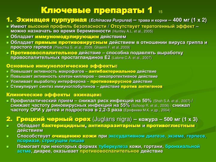 Ключевые препараты 1