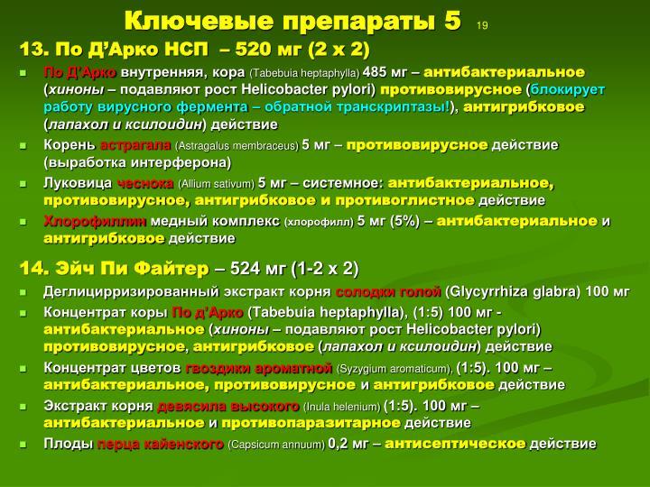 Ключевые препараты 5